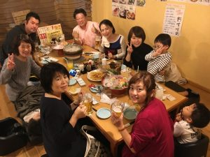 宿泊組の夕食